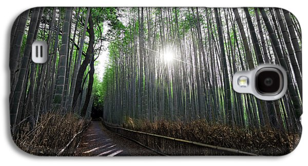 Bamboo Fence Galaxy S4 Cases - BAMBOO FOREST PATH of KYOTO Galaxy S4 Case by Daniel Hagerman