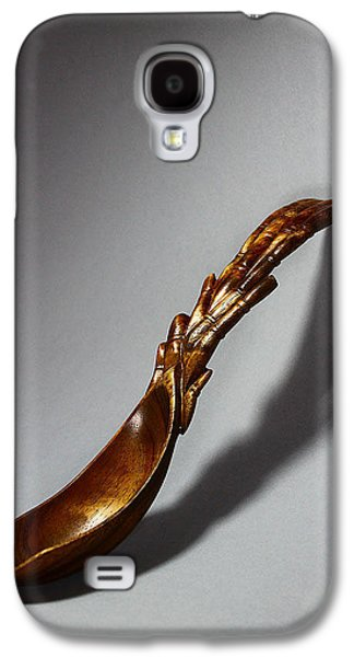 Abstract Nature Sculptures Galaxy S4 Cases - Bamboo Spoon 1 Galaxy S4 Case by Abram Barrett