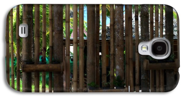Bamboo Fence Galaxy S4 Cases - Bamboo View Galaxy S4 Case by Nomad Art And  Design