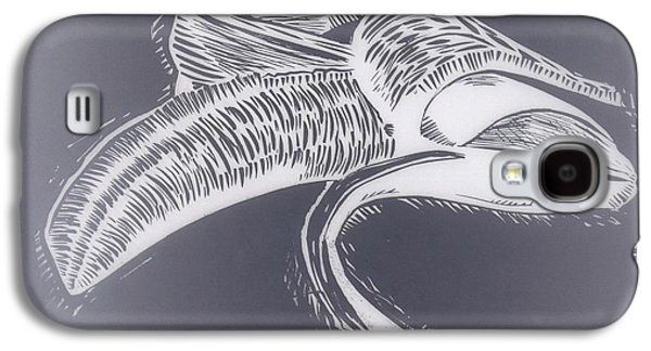 Lino Drawings Galaxy S4 Cases - B.a.n.a.n.a Galaxy S4 Case by Aaron Ebanks