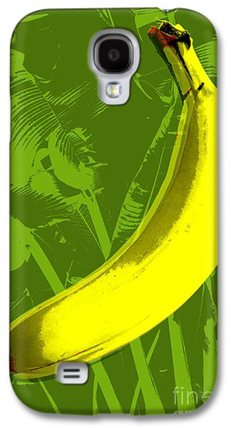 Fruit Tree Art Galaxy S4 Cases - Banana pop art Galaxy S4 Case by Jean luc Comperat