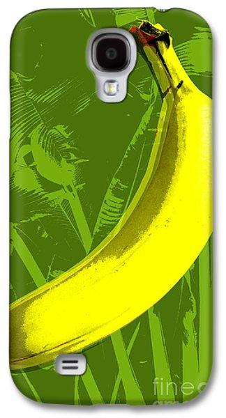 Tree Art Galaxy S4 Cases - Banana pop art Galaxy S4 Case by Jean luc Comperat