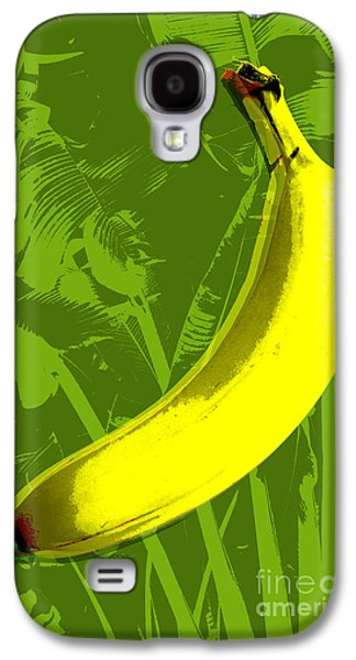 Tree Art Galaxy S4 Cases - Banana pop art Galaxy S4 Case by Jean luc Comperat