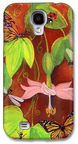 Bright Colors Glass Art Galaxy S4 Cases - Bananapoka Galaxy S4 Case by Anna Skaradzinska