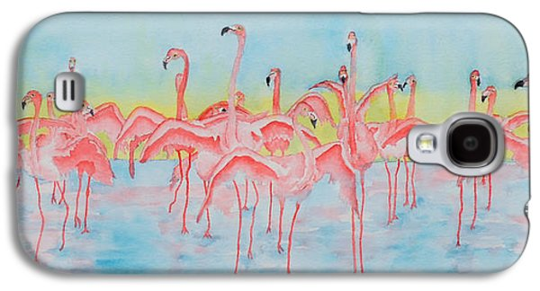 Group Of Birds Paintings Galaxy S4 Cases - Band on the Run Galaxy S4 Case by Rhonda Leonard