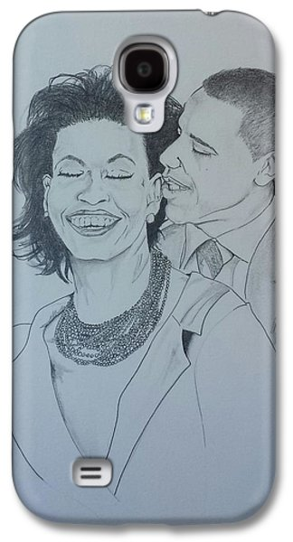 Michelle Obama Galaxy S4 Cases - BandMO Galaxy S4 Case by DMo Her