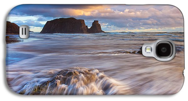 Landscape Acrylic Prints Galaxy S4 Cases - Bandon Sunset Galaxy S4 Case by Darren  White