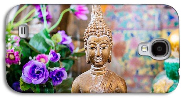 Contemplative Photographs Galaxy S4 Cases - Bangkok Temple Buddha Galaxy S4 Case by Dean Harte