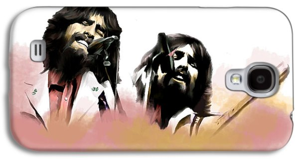 Beatles Drawings Galaxy S4 Cases - Bangladesh  George Harrison Galaxy S4 Case by Iconic Images Art Gallery David Pucciarelli
