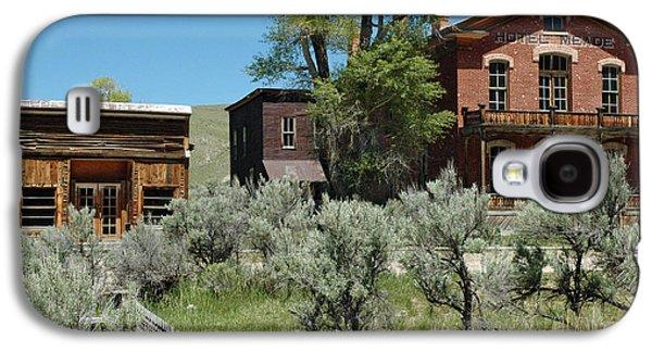 Mining Photos Galaxy S4 Cases - Bannack Montanas Hotel Meade Galaxy S4 Case by Bruce Gourley