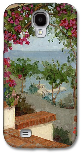 Harbor Paintings Galaxy S4 Cases - Banning House Bougainvillea Galaxy S4 Case by Alice Leggett