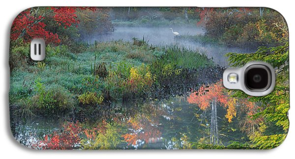 Connecticut Landscape Galaxy S4 Cases - Bantam River Autumn Square Galaxy S4 Case by Bill  Wakeley