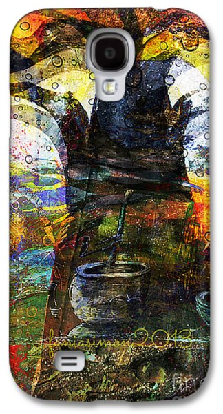 Faniart Africa America Mixed Media Galaxy S4 Cases - Baobab Tree  Galaxy S4 Case by Fania Simon