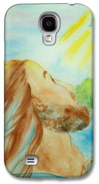 River Jordan Paintings Galaxy S4 Cases - Baptism of Christ Galaxy S4 Case by Melanie Palmer