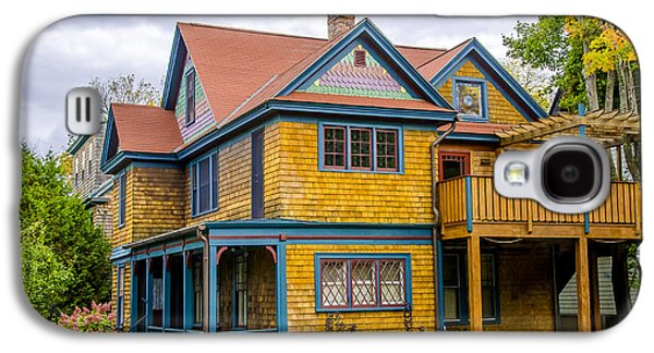 Old Maine Houses Galaxy S4 Cases - Bar Harbor Colors and Comfort Galaxy S4 Case by Julie Palencia