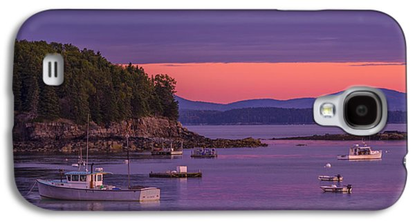 Porcupine Fish Galaxy S4 Cases - Bar Harbor Sunrise Galaxy S4 Case by Cynthia Farr-Weinfeld