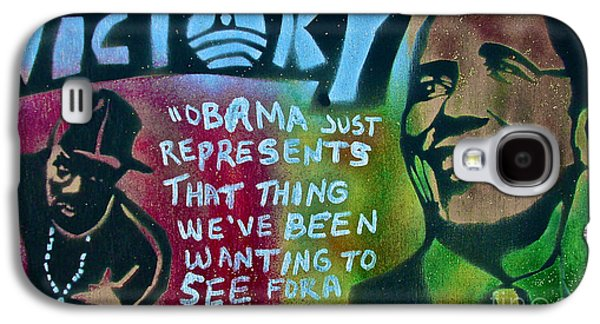 Michelle Obama Paintings Galaxy S4 Cases - BARACK and FIFTY CENT Galaxy S4 Case by Tony B Conscious