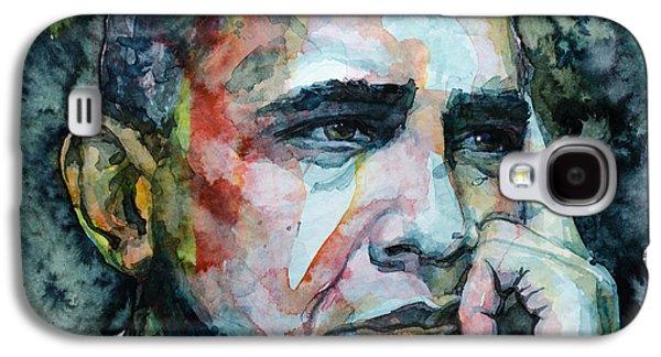 Barack Obama Galaxy S4 Cases - Barack Galaxy S4 Case by Laur Iduc