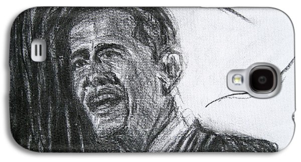 Barack Obama Drawings Galaxy S4 Cases - Barack Obama 1 Galaxy S4 Case by Michael Morgan