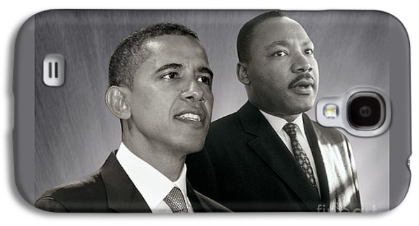 Barack Obama Galaxy S4 Cases - Barack Obama  M L King  Galaxy S4 Case by Martin Konopacki