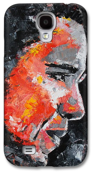 Michelle Obama Paintings Galaxy S4 Cases - Barack Obama Galaxy S4 Case by Richard Day