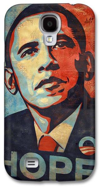 Barack Obama Galaxy S4 Cases - Barack Obamas Hope Galaxy S4 Case by Cora Wandel
