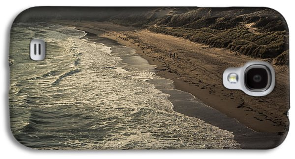Beach Landscape Galaxy S4 Cases - Barafundle Bay Galaxy S4 Case by Chris Fletcher