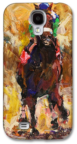 Kentucky Derby Galaxy S4 Cases - Barbaro Galaxy S4 Case by Ron and Metro