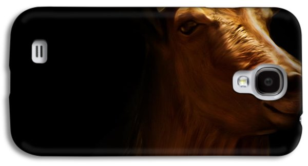 Pastureland Galaxy S4 Cases - Barbary Sheep Portrait Galaxy S4 Case by Lourry Legarde