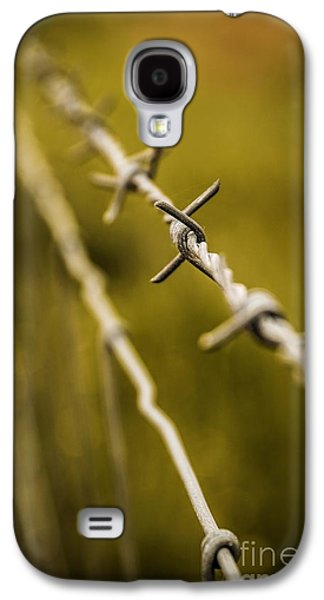 Separation Galaxy S4 Cases - Barbed Wire Galaxy S4 Case by Carlos Caetano