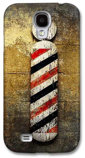 Red White And Blue Mixed Media Galaxy S4 Cases - Barber Pole Galaxy S4 Case by Andee Design