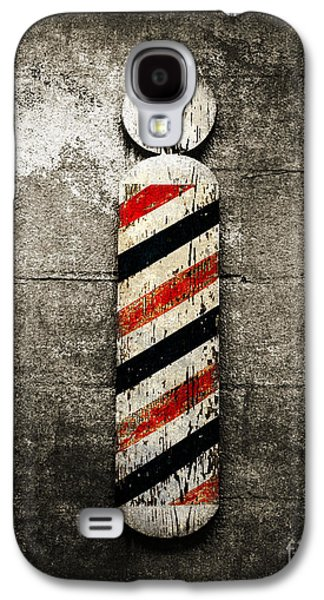 Red White And Blue Mixed Media Galaxy S4 Cases - Barber Pole Selective Color Galaxy S4 Case by Andee Design