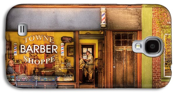 Personalize Galaxy S4 Cases - Barber - Towne Barber Shop Galaxy S4 Case by Mike Savad
