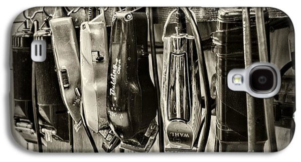 Wahl Galaxy S4 Cases - Barbershop Clippers in black and white Galaxy S4 Case by Paul Ward