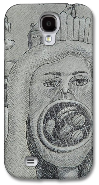 Pole Drawings Galaxy S4 Cases - Barbie Mouth Galaxy S4 Case by Ronald Walker