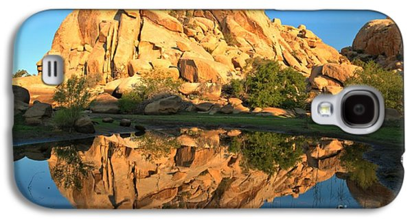 Trees Reflecting In Water Galaxy S4 Cases - Barker Dam Pond Reflections Galaxy S4 Case by Adam Jewell