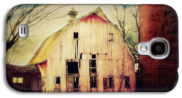 Barn Yard Galaxy S4 Cases - Barn and Silo Galaxy S4 Case by Julie Hamilton