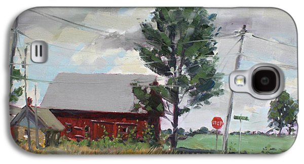 Barn Paintings Galaxy S4 Cases - Barn by Lockport Rd Galaxy S4 Case by Ylli Haruni