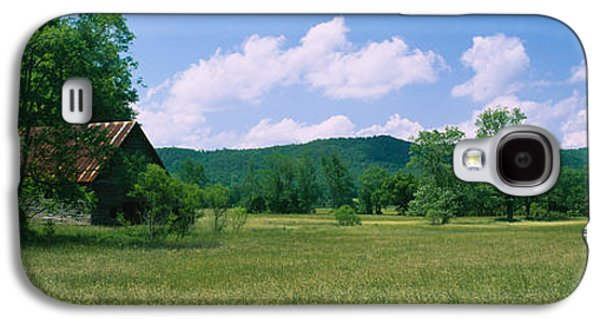 Tennessee Farm Galaxy S4 Cases - Barn In A Field, Cades Cove, Great Galaxy S4 Case by Panoramic Images
