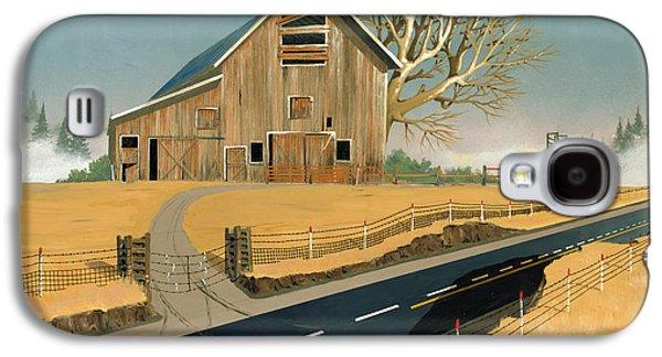 Barn Paintings Galaxy S4 Cases - Barn Galaxy S4 Case by John Wyckoff