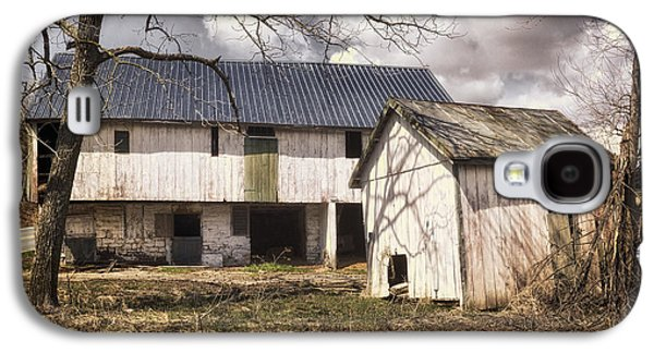Shed Galaxy S4 Cases - Barn Near Utica Mills Covered Bridge Galaxy S4 Case by Joan Carroll