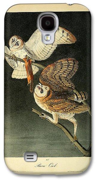 Business Drawings Galaxy S4 Cases - Barn Owls Galaxy S4 Case by John James Audubon