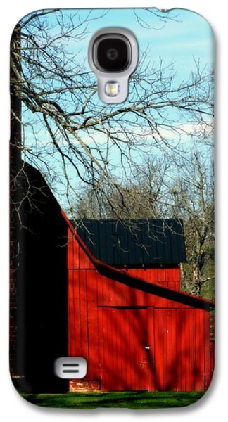 Tennessee Barn Galaxy S4 Cases - Barn Shadows Galaxy S4 Case by Karen Wiles