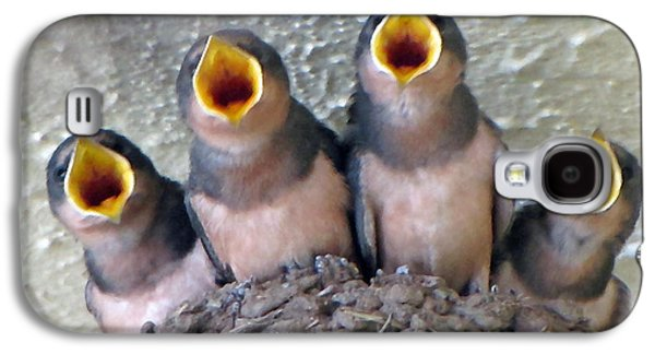 Swallow Chicks Galaxy S4 Cases - Barn Swallows 3 Galaxy S4 Case by Roger Reeves  and Terrie Heslop
