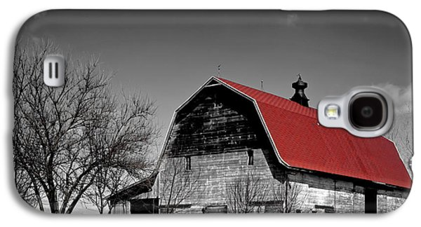 Red Roofed Barn Galaxy S4 Cases - Barn with the Red Roof Galaxy S4 Case by Mountain Dreams