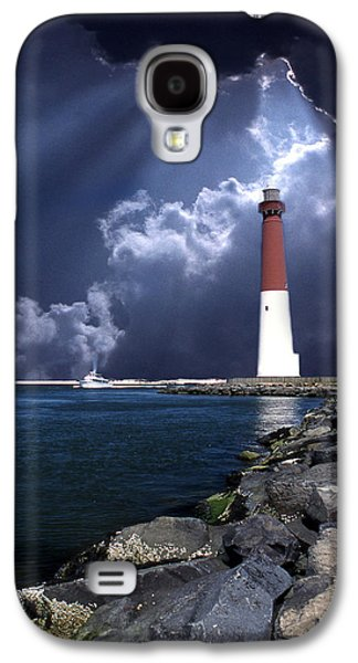 Wall Galaxy S4 Cases - Barnegat Inlet Lighthouse Nj Galaxy S4 Case by Skip Willits