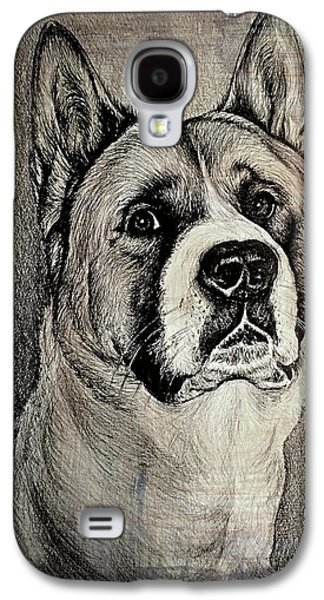 Working Dog Galaxy S4 Cases - Barney the dog Galaxy S4 Case by Andrew Read