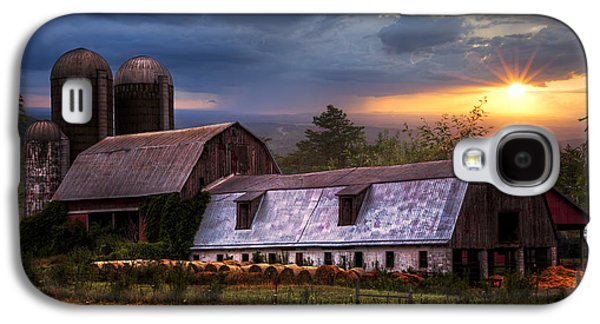 Barns At Sunset Galaxy S4 Case by Debra and Dave Vanderlaan