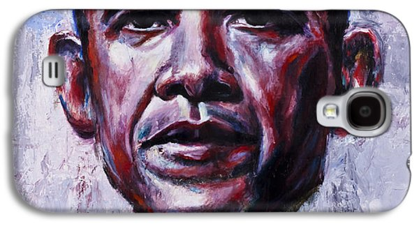 Obama Galaxy S4 Cases - Barock Obama Galaxy S4 Case by Mark Courage