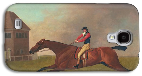 Horse Racing Galaxy S4 Cases - Baronet with Sam Chifney Up Galaxy S4 Case by George Stubbs